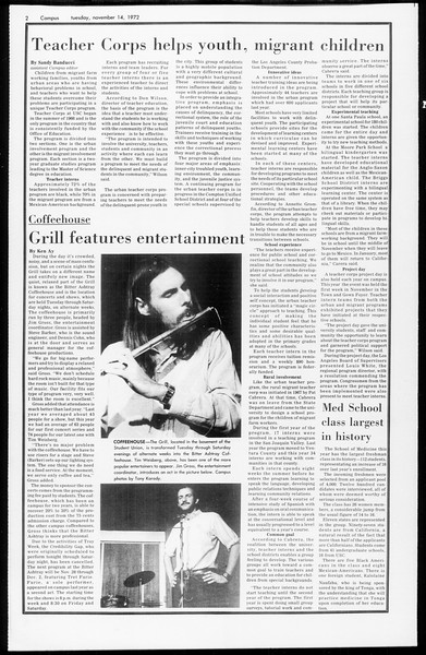 Daily Trojan, Vol. 65, No. 39, November 14, 1972
