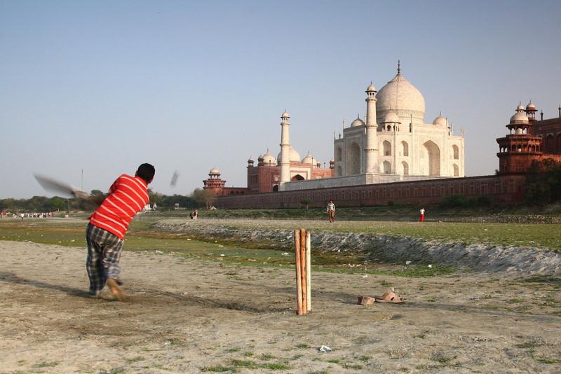 Cricket by the Taj, Agra