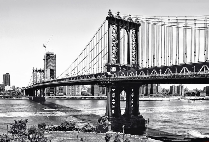 Manhattan Bridge in Black and White