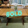 Rustic Oak Dining Room Set for 6