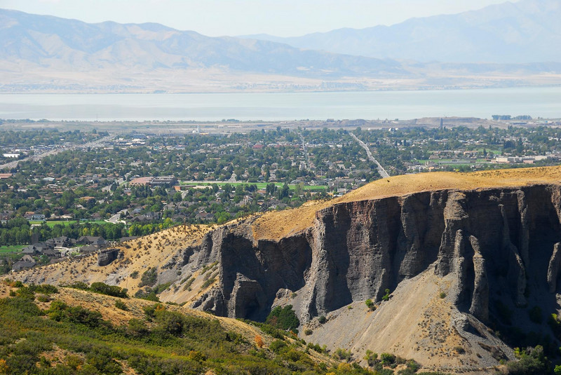 8/21/07 – This shot is just above my office looking back out Provo Canyon across Orem towards Utah Lake. The cliffs along the north side on the canyon look much bigger and impressive from this perspective.