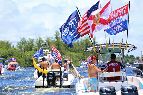 Trump's Birthday Flotilla From Fort Lauderdale to Lake Boca - June 14th, 2020
