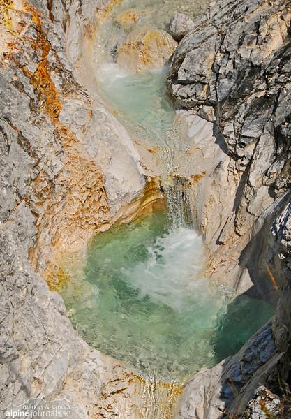 Karwendel limestone waterfall