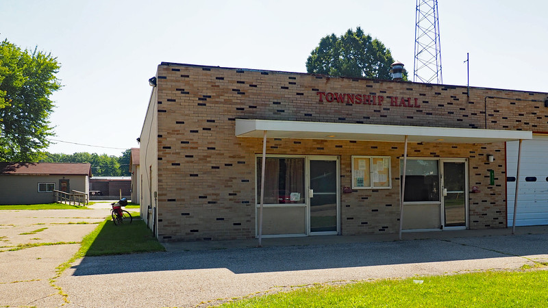 Lee Township Hall with other township buildings behind it