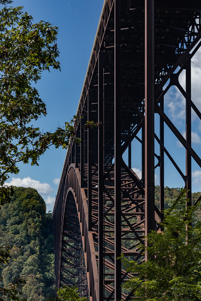 I've driven across this bridge hundreds of times and each time I swore that the next time I'd drive down into the gorge to properly photograph it.  Well, the next time finally happened.  It is currently the longest single-span steel arch bridge in the United States and the third highest bridge in the country.  https://www.nps.gov/places/new-river-gorge-bridge.htm