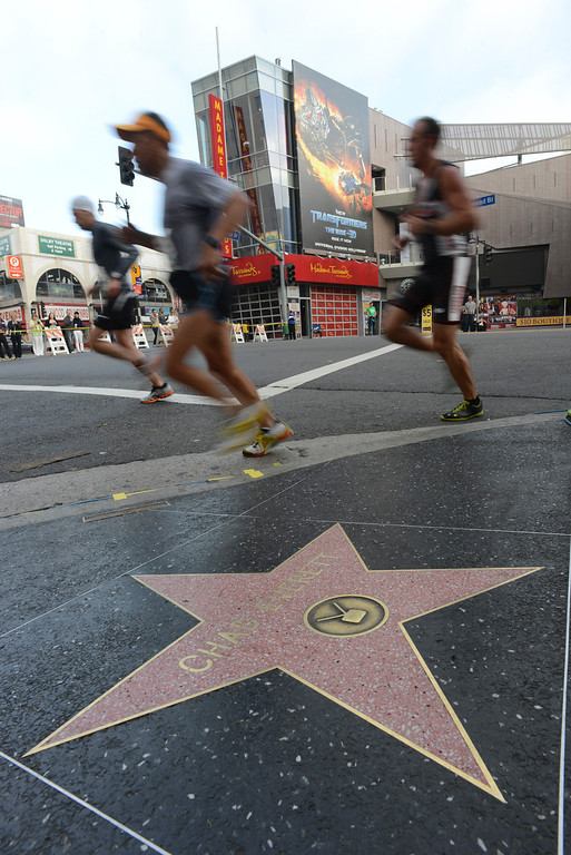 . Stars on Hollywood blvd. during the 28th Los Angeles Marathon.  Photo by David Crane/Staff Photographer