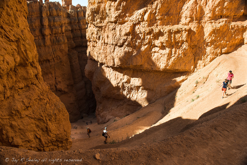 On the Navajo trail.  This trail goes down into the valley floor of Bryce Canyon.