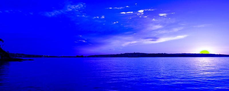 Vivid cloudy Sunrise Seascape Australia