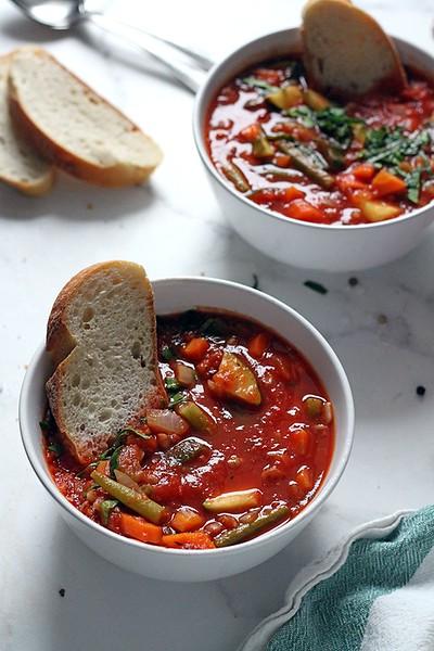 Vegan Italian Recipes - Minestrone Soup
