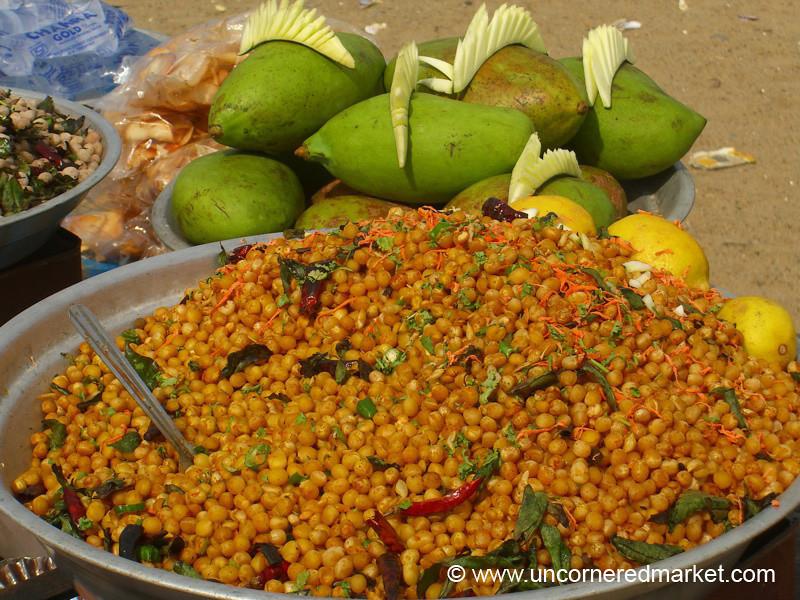 Channa and Mangos - Pondicherry, India