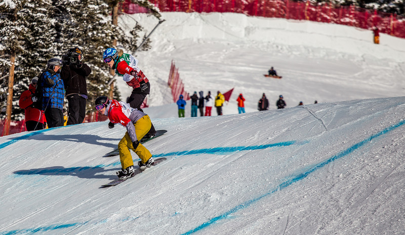 Dominique Maltais CAN and Lindsey Jacobellis USA Woments Final