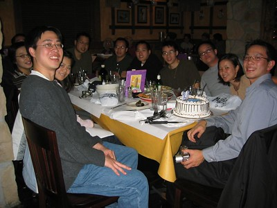 Joe Chen's B-Day dinner @ Albany Mac Grill, 1-16-2003