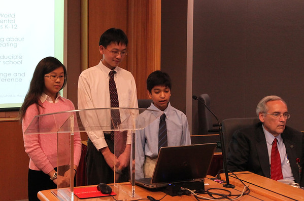 Guy B. Phillips Middle School Students on Recycling, Sustainability, and Solid Waste at Town Council