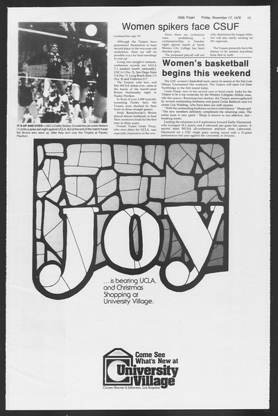 Daily Trojan, Vol. 75, No. 40, November 17, 1978