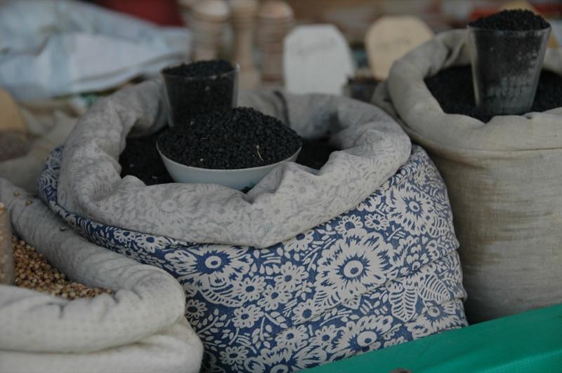 Spice Sacks at Dushanbe Market - Tajikistan
