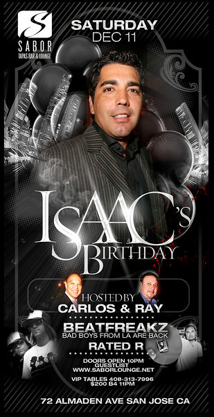 Isaac's Birthday @ Sabor Tapas Bar & Lounge 12.11.10
