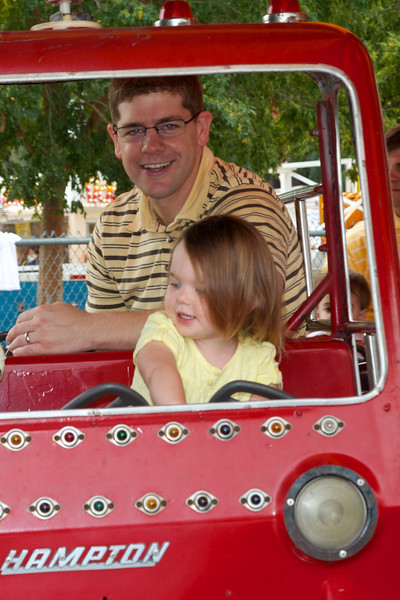 Daddy seemed to enjoy the ride well enough