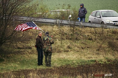 Průjezd amerického vojenského konvoje 29.3.2015
