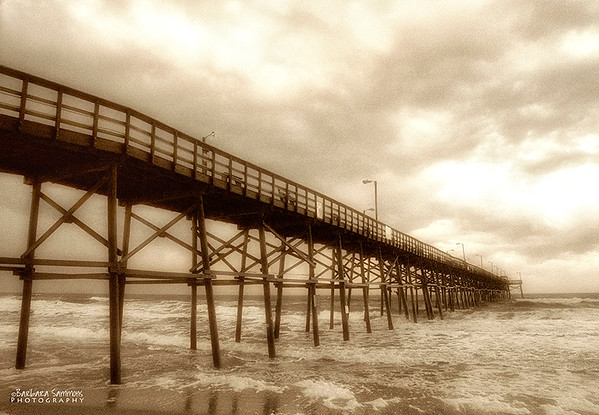 Yaupon Beach Fishing Pier - Stormy Morning - Oak Island, NC