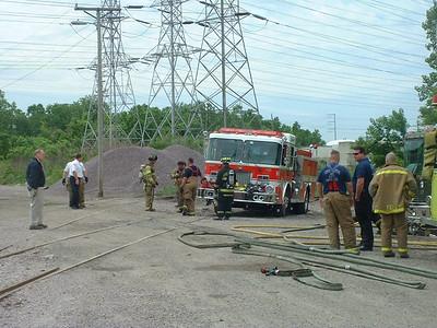 NORTHLAKE, IL RAIL HOPPER CAR FIRE UNION PACIFIC RR (10.02.2000)