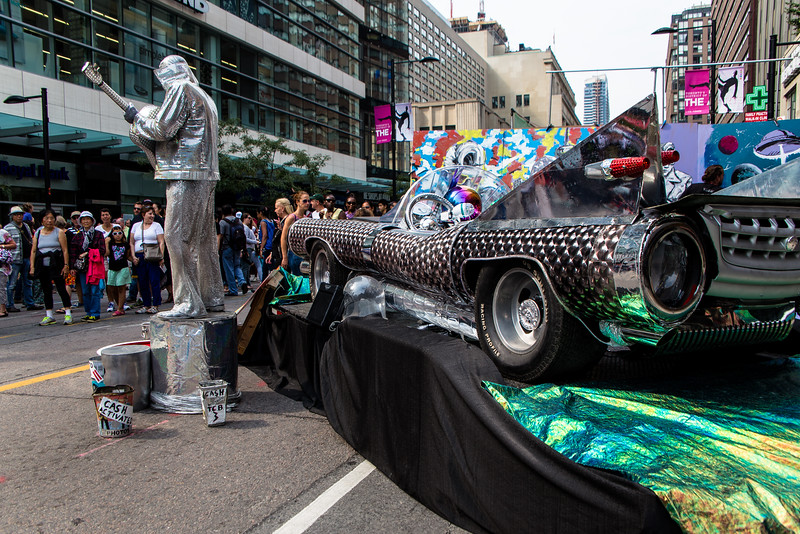 """""""SIlver Elvis & His Car"""", from Toronto"""