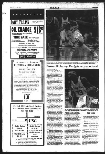 Daily Trojan, Vol. 151, No. 28, February 25, 2004