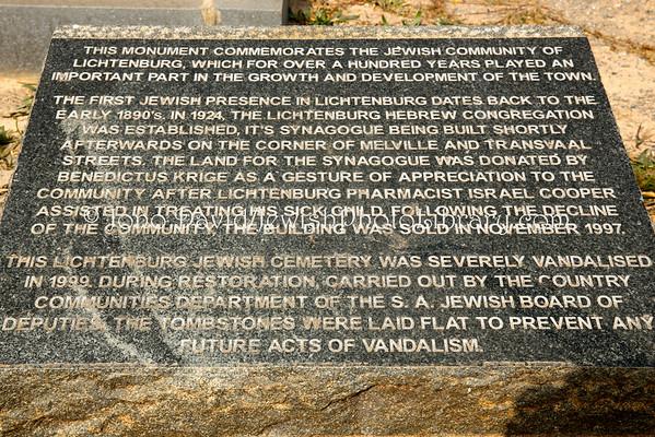 SOUTH AFRICA, North West Province, Lichtenburg.  Jewish Cemetery (8.2013)
