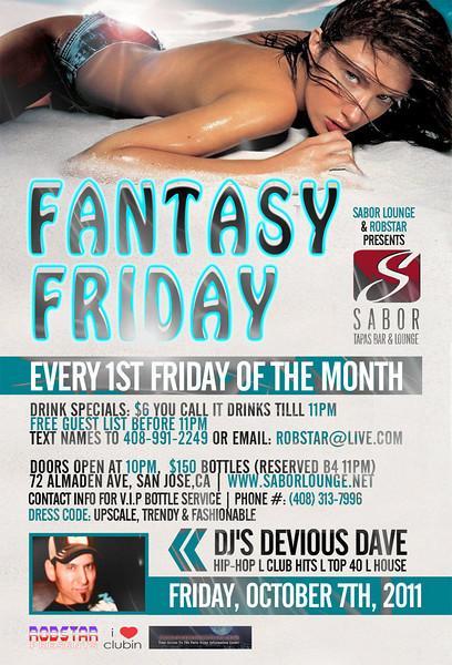 Fantasy Friday @ Sabor Tapas Bar & Lounge 10.7.11