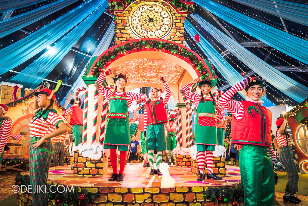 Universal Studios Singapore December Park Update - Santa's All Star Christmas 2016 / Santa's Village Dance