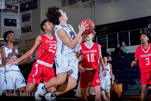 Broughton boys JV basketball vs Sanderson. February 11, 2019. 750_5730