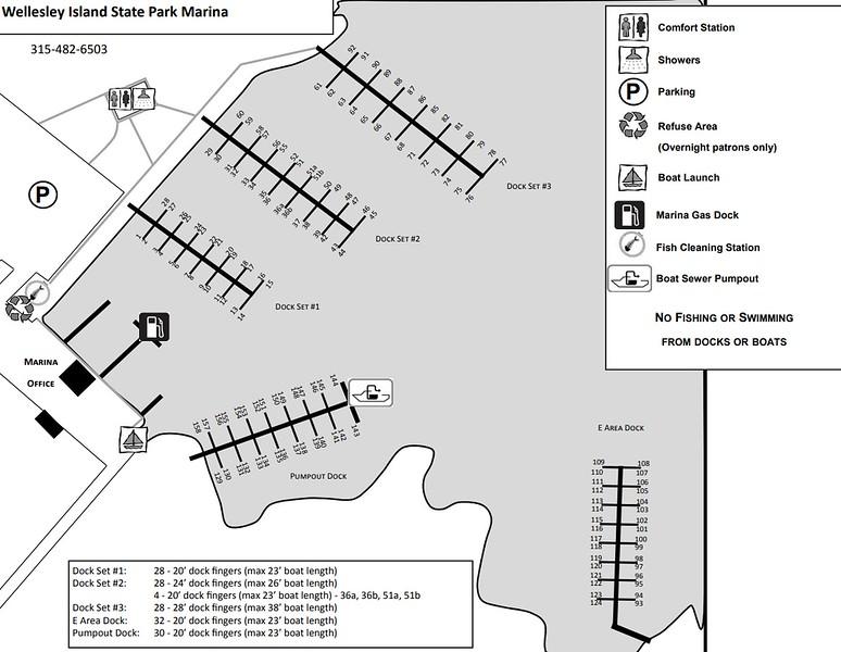 Wellesley Island State Park (Marina Map)