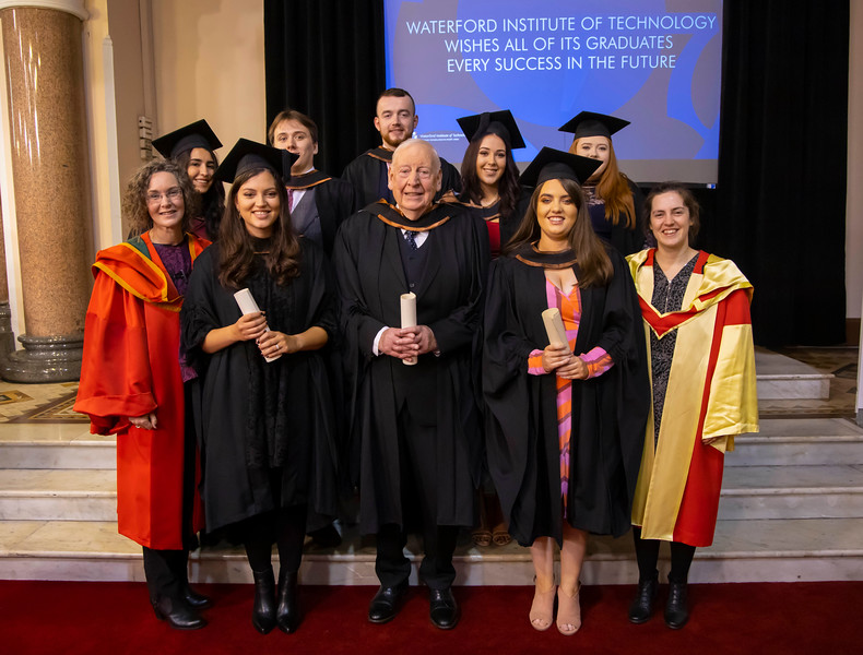 31/10/2019. Waterford Institute of Technology Conferring. Pictured is Tom Boyle (82) graduated from WIT with a Bachelor of Arts (Honours) in English and Irish. Picture: Patrick Browne