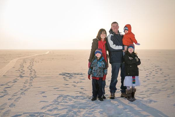 Ellsworth's Family Frozen UT Lake