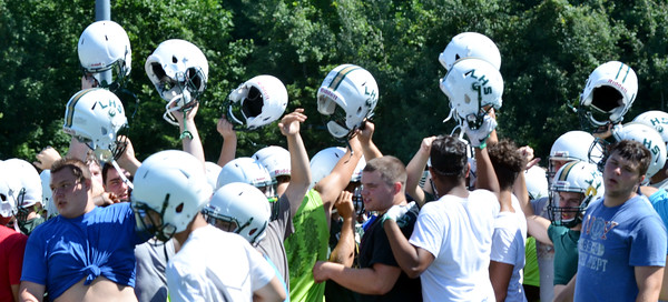 Football practices at Jefferson, Lakeside, Conneaut and Edgewood