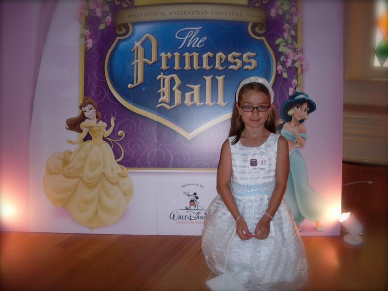 Kate at the Princess Ball.