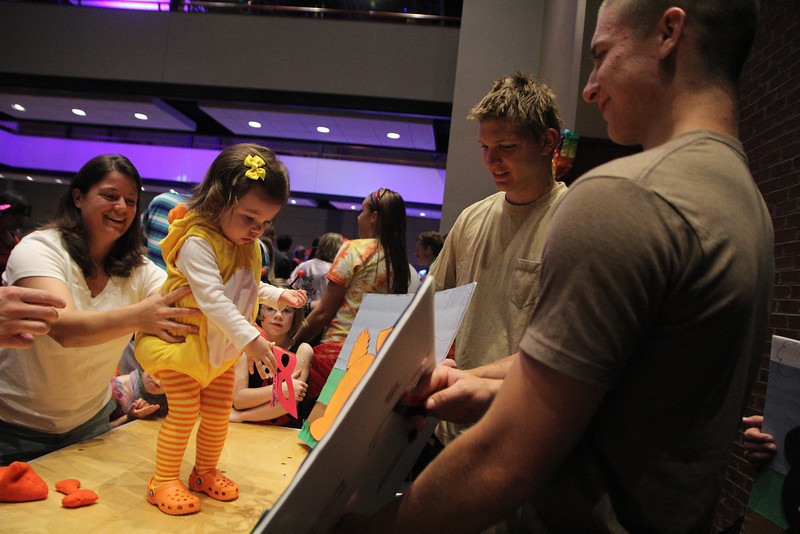 Students and community members come together at the Tucker Student Center for Octoberfest.