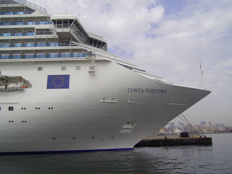 M/S COSTA FORTUNA : a short bow.