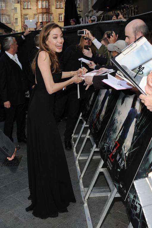 . Angelina Jolie attends the World Premiere of \'World War Z\' at The Empire Cinema on June 2, 2013 in London, England.  (Photo by Stuart C. Wilson/Getty Images for Paramount Pictures International)