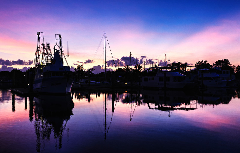 Magnificent golden colored cloud coastal sunrise view. Australia.