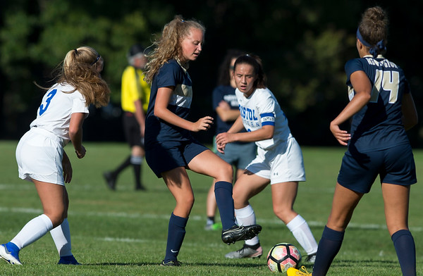 09/17/19 Wesley Bunnell | StaffrrBristol Eastern vs Newington soccer on Tuesday afternoon at Newington High School. Newington's Reese Sadler (19).