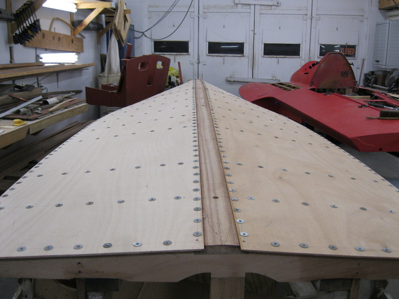 Rear view of bottom plywood installed.