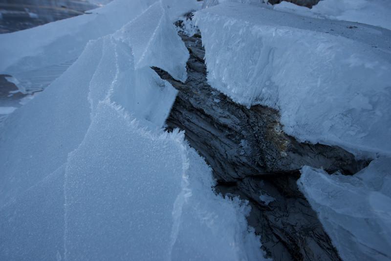 frozen Oeschinensee, winter, ice, lake