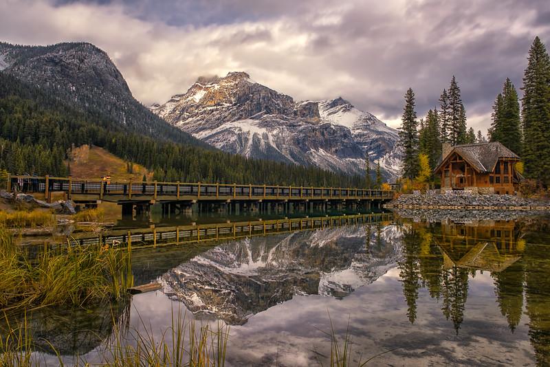 Reflecting on Emerald Lake