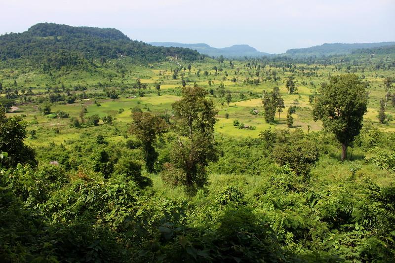 Landscape coming down from Phnom Kulen
