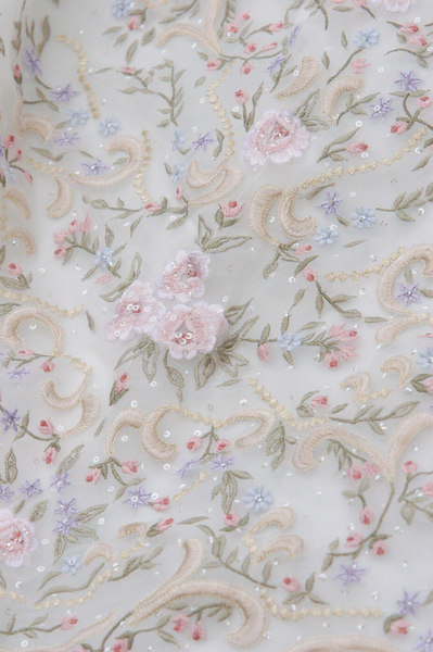 Detail of Kelly's dress