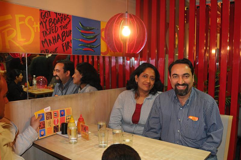 Anu & I (Suchit) had dinner at Nirulas at CP, New Delhi with Sachine, Rakhi & Varun Seth. Thanks Rakhi for taking this picture for us.
