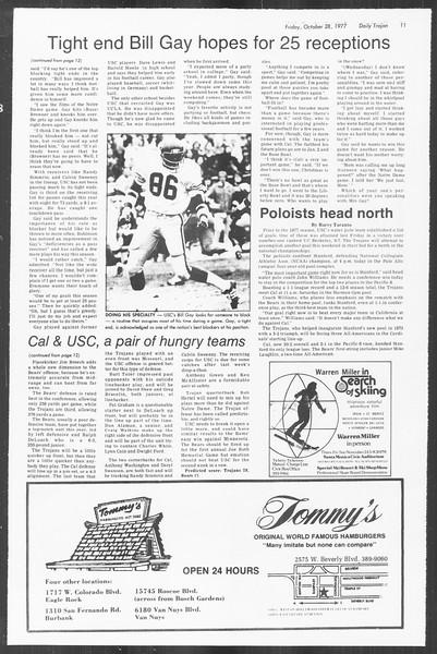 Daily Trojan, Vol. 72, No. 29, October 28, 1977