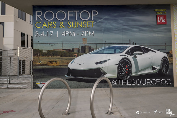 Rooftop Cars and Sunset