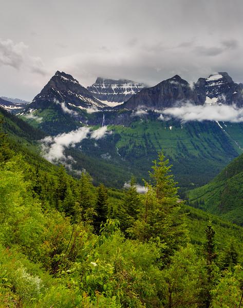 Mount Oberlin - Glacier National Park Peak.