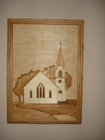 White country church with steeple